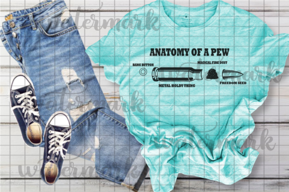 Print on Demand: Anatomy of a Pew Graphic Crafts By JessasGraphicDesgins