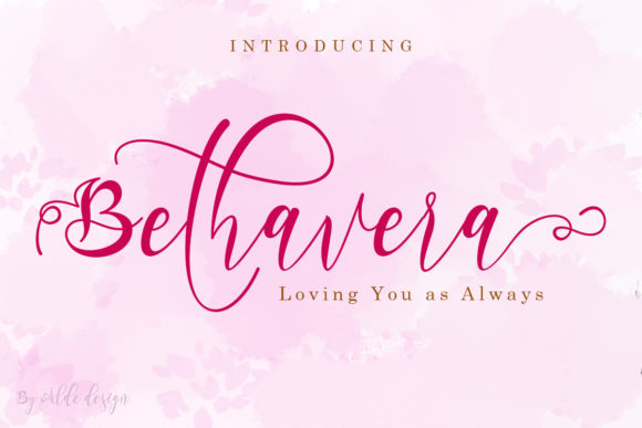 Print on Demand: Bethavera Script & Handwritten Font By aldedesign
