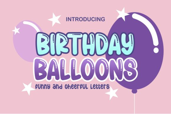Print on Demand: Birthday Balloons Display Font By Pidco.art