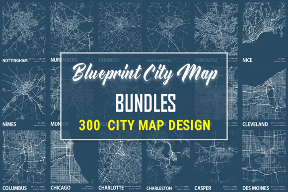 Print on Demand: Blueprint City Map  By tienstencil