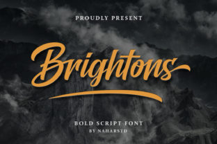 Print on Demand: Brightons Script & Handwritten Font By Naharstd