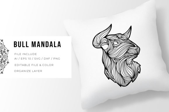 Print on Demand: Bull | Mandala Graphic Crafts By Vunira