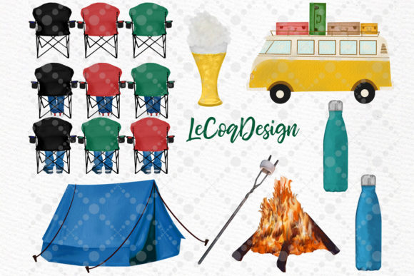 Camping Clipart Best Friends Camping Graphic Illustrations By LeCoqDesign - Image 4