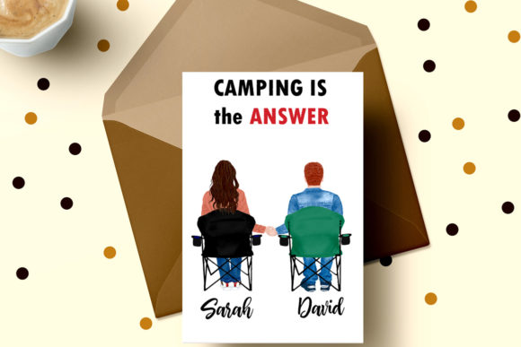 Camping Clipart Best Friends Camping Graphic Illustrations By LeCoqDesign - Image 6