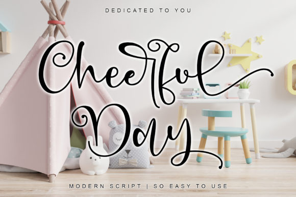 Print on Demand: Cheerful Day Script & Handwritten Font By thomasaradea