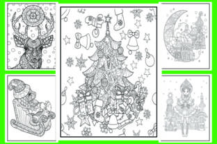 Print on Demand: Christmas Coloring Pages 50 Vector Items Graphic Coloring Pages & Books Adults By ajubayer555