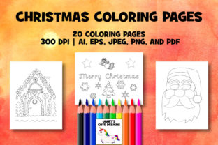 1 Christmas Colouring Pages Designs Graphics