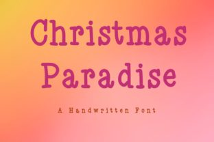 Print on Demand: Christmas Paradise Serif Font By KateType