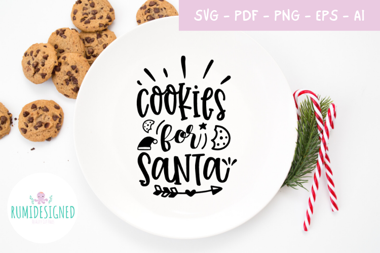 Cookies For Santa Christmas Graphic By Rumi Designed Creative Fabrica