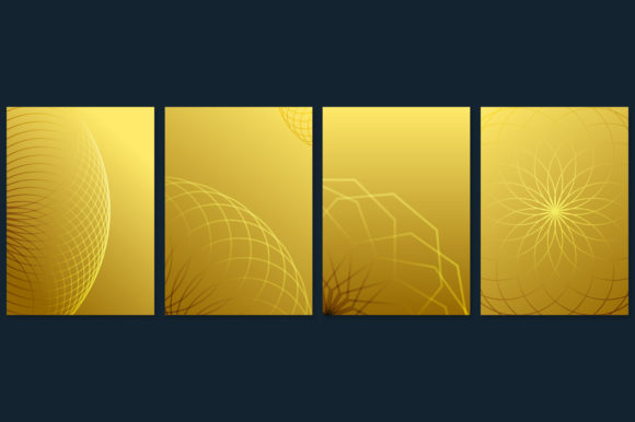 Cover Design with Golden Gradient Graphic Backgrounds By medelwardi