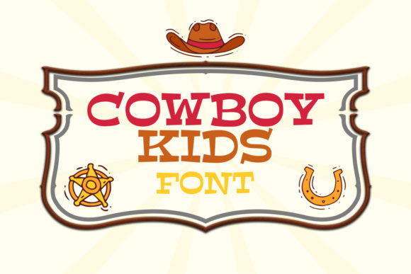 Print on Demand: Cowboy Kids Display Font By OWPictures