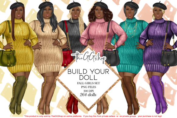 Print on Demand: Curvy Girl Fashion Graphic Illustrations By TheGGShop