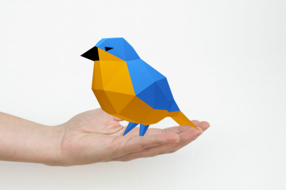 DIY Lowpoly Sparrow Bird - 3d Papercraft Graphic 3D SVG By paperamaze
