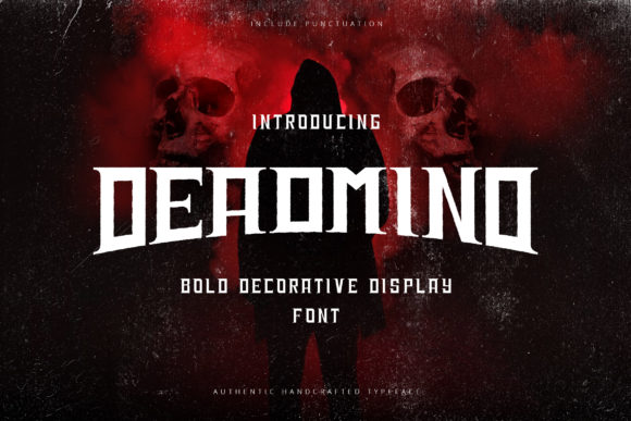 Print on Demand: Deadmind Display Font By naulicrea
