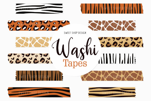 Digital Washi Tape Clipart Animal Prints Graphic Illustrations By Sweet Shop Design