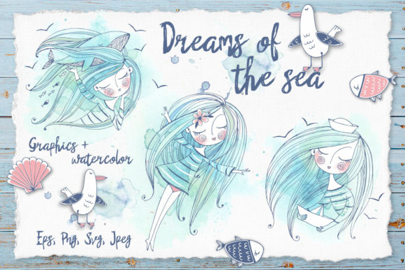 Dreams of the Sea Graphic Illustrations By grigaola