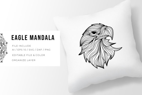 Print on Demand: Eagle | Mandala Grafik Plotterdateien von Vunira