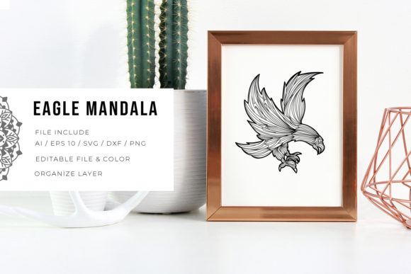 Print on Demand: Eagle | Mandala Gráfico Crafts Por Vunira