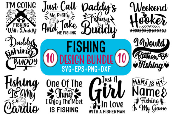 Fishing Design Bundle Graphic Crafts By creative store.net