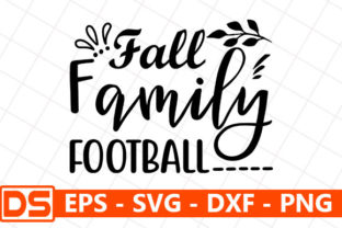 Print on Demand: Fall Family Football Graphic Print Templates By Design Store