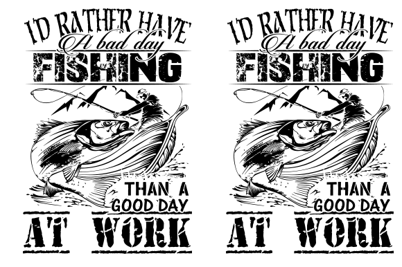 Fishing Typography T-shirt Design Graphic Print Templates By walidhasan142s