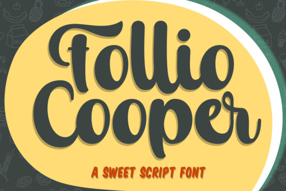 Print on Demand: Follio Cooper Script & Handwritten Font By Fallengraphic
