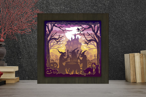Halloween 11 Light Box Shadow Box Graphic 3D Shadow Box By LightBoxGoodMan