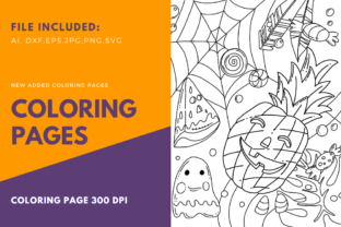 Print on Demand: Halloween Happy Pumpkin Coloring Page Graphic Coloring Pages & Books Kids By stanosh