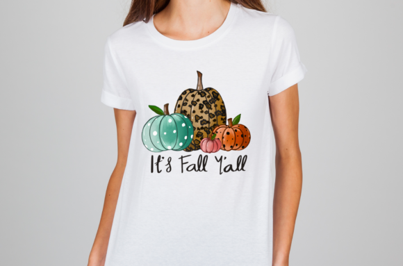 Halloween It's Fall Y'all Pumpkins Graphic Download
