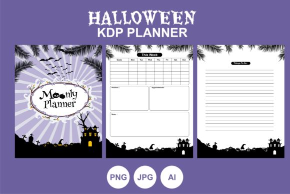 Print on Demand: Halloween KDP Planner Best Illustration Graphic KDP Interiors By edywiyonopp