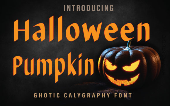 Print on Demand: Halloween Pumpkin Blackletter Font By Farz Studio