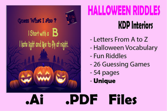 Halloween Riddles for Kids and Adults Graphic KDP Interiors By KDP_Interior_101