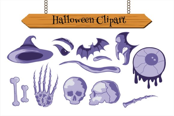 Print on Demand: Halloween Clipart Best Set Graphic Illustrations By edywiyonopp