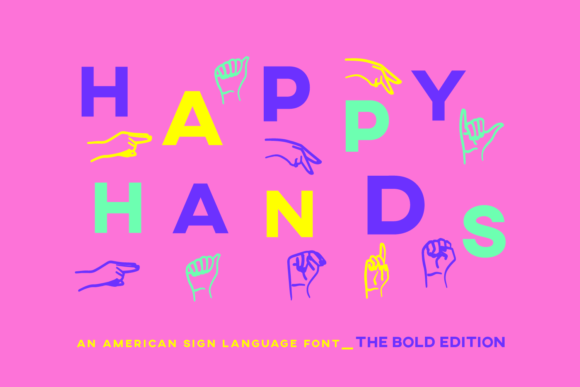 Print on Demand: Happy Hands Dingbats Font By Inkclouddesign