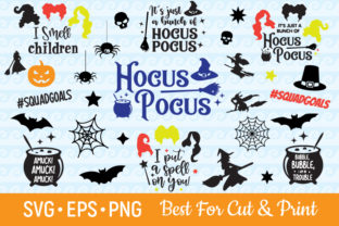 Hocus Pocus I Smell Children Witch Graphic Crafts By OlimpDesign