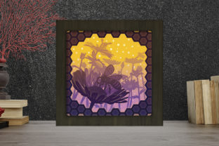 Print on Demand: Honey Bee Light Box Shadow Box Graphic 3D Shadow Box By LightBoxGoodMan