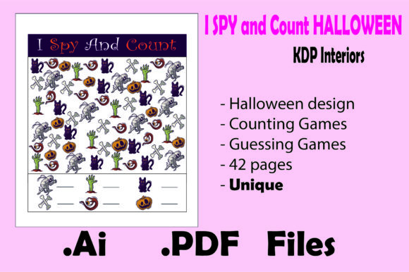 I Spy and Count Halloween for Kids Graphic KDP Interiors By KDP_Interior_101 - Image 1