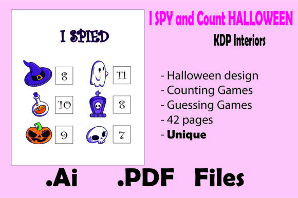 I Spy and Count Halloween for Kids Graphic KDP Interiors By KDP_Interior_101 - Image 2