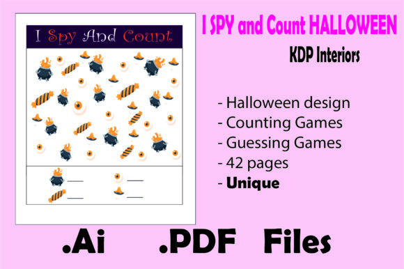 I Spy and Count Halloween for Kids Graphic KDP Interiors By KDP_Interior_101 - Image 3