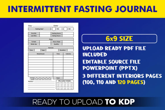Print on Demand: Intermittent Fasting Journal KDPInterior Graphic KDP Interiors By Beast Designer - Image 2