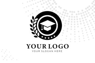 Print on Demand: Isolated Black and White Education Logo Graphic Logos By bllinkstudio