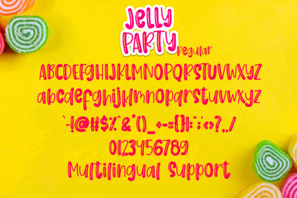 Print on Demand: Jelly Party Display Font By dmletter31 - Image 7