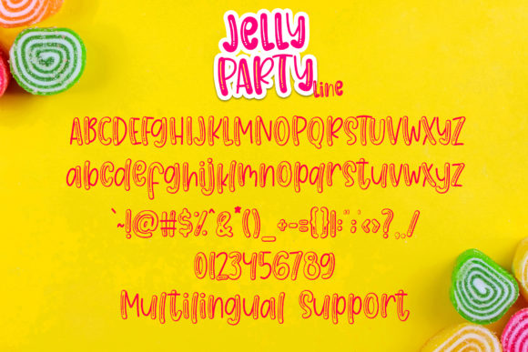 Print on Demand: Jelly Party Display Font By dmletter31 - Image 8