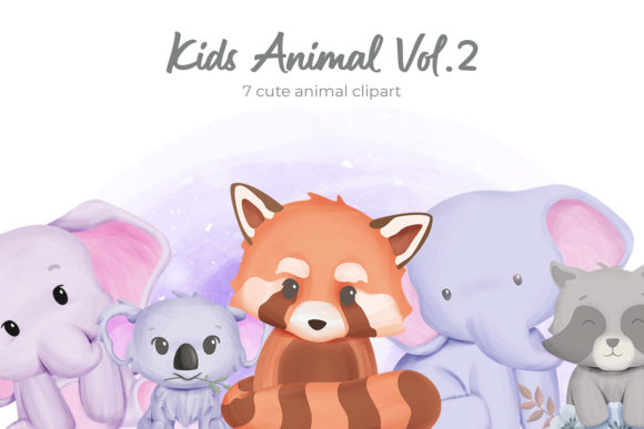 Kids Animal Vol.2 Graphic Illustrations By alolieli