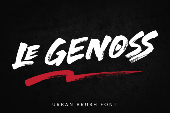 Print on Demand: Le Genoss Display Font By attypestudio