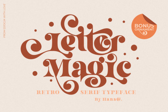 Print on Demand: Letter Magic Serif Font By HansCo