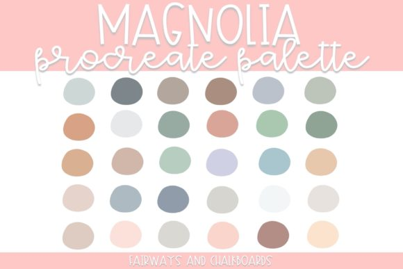 Print on Demand: Magnolia Procreate Color Palette Graphic Actions & Presets By Fairways and Chalkboards