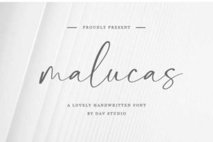 Print on Demand: Malucas Script & Handwritten Font By Dav studio