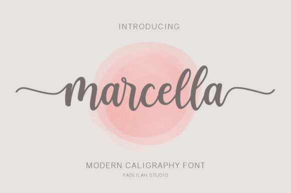 Print on Demand: Marcella Script & Handwritten Font By Fadlilah Studio