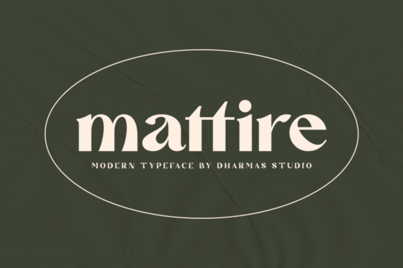 Print on Demand: Mattire Display Font By dharmas